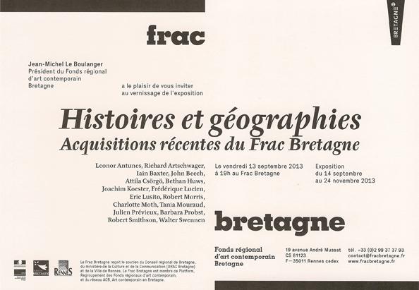 carton, histoires et géographies,frac bretagne, 2013, verso