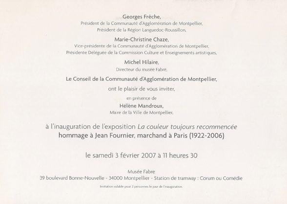 carton, La couleur toujours recommencée, verso, 2007
