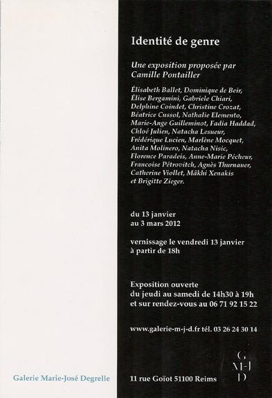 identité de genre, verso2012